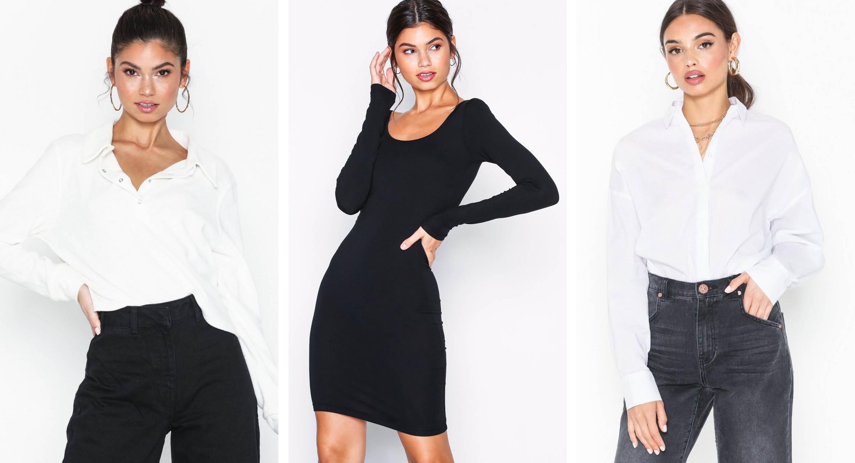 f18736a4 Hvit topp • Svart kjole • Hvit klassisk skjorte (annonselenker)
